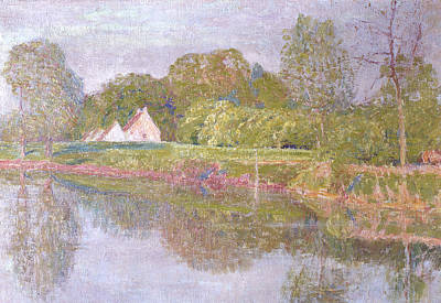 Belgium Painting - One Morning In May by Emile Claus