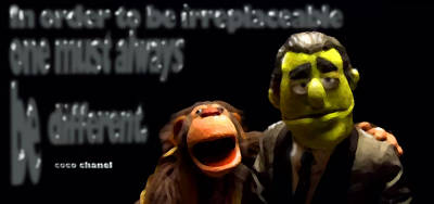 Must Art Digital Art - One Must Always Be Different - Muppets by Marcello Cicchini