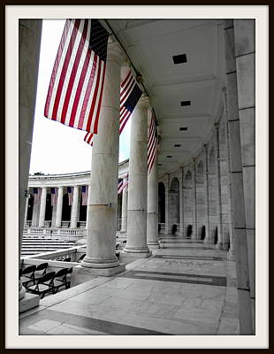 Lincoln Memorial Digital Art - One Nation Under God -bdr by Angelia Hodges Clay