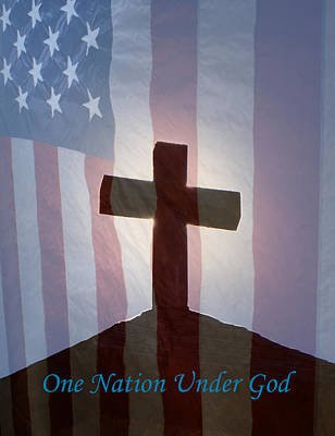 Digital Art - One Nation Under God by Ernie Echols