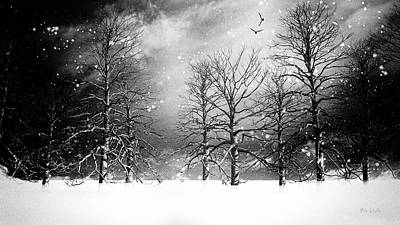Framed Winter Snow Photograph - One Night In November by Bob Orsillo