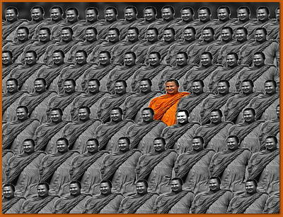 Conformity Digital Art - One Of A Kind by Nick Eagles