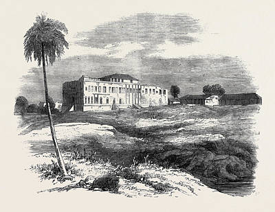 One Of Nana Sahibs Palaces Near Nassick Art Print by English School