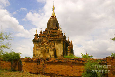 One Of The Countless Buddhist Pagodas In Bagan Burma Art Print by PIXELS  XPOSED Ralph A Ledergerber Photography