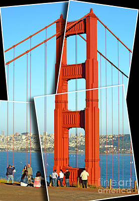 Photograph - One Of The Golden Gate Bridge's Towers Viewed From The Marin Side Of The Bay Digitally Altered II by Jim Fitzpatrick