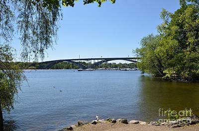 Photograph - One Of The Many Bridges In The Green City Of Stockholm - Capital by Kennerth and Birgitta Kullman