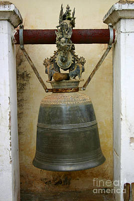 Photograph - One Of The Many Temple Bells On The Shwezigon Pagoda Complex Nyaung Oo Bagan Burma by Ralph A  Ledergerber-Photography