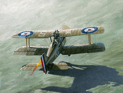 Aviator Painting - One Of The Yanks by Wade Meyers
