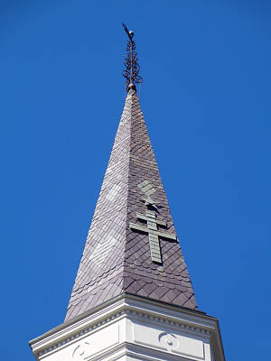 Photograph - One Of Three Steeples by Kathy K McClellan