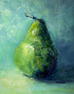 Painting - One Pear by Bob Pennycook