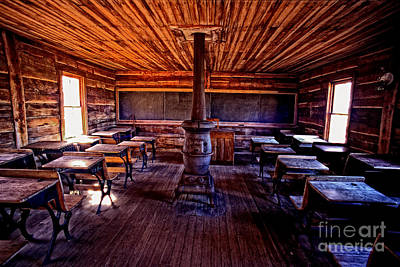 Photograph - One-room School House by Paul W Faust -  Impressions of Light