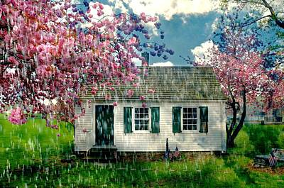 One Room Schoolhouses Photograph - Raining On The Schoolhouse by Diana Angstadt