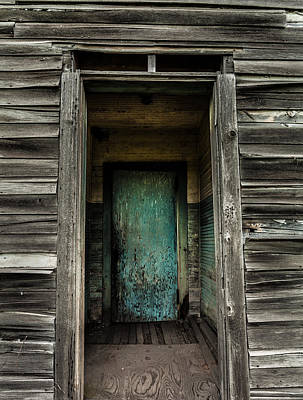 Weather Beaten Photograph - One Room Schoolhouse Door - Damascus - Pennsylvania by David Smith