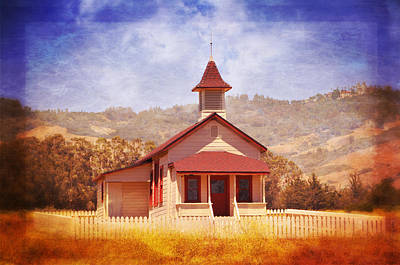 Photograph - One Room Schoolhouse In San Simeon by Lynn Bauer