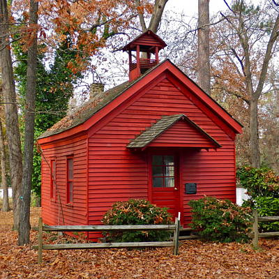Photograph - One Room Schoolhouse by Jean Wright