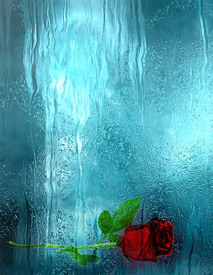 Pour Digital Art - One Rose Left by Jack Zulli