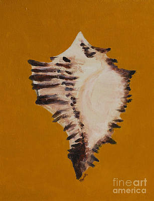 Painting - One Shell by Minnie Lippiatt