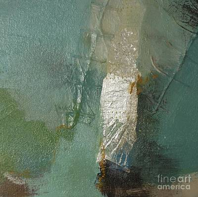 Beige Glass Mixed Media - One Shining Moment by Lisa Schafer