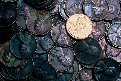 Money Photograph - One Shiny Penny by Jerry McElroy
