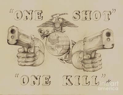One Shot Art Print by Donald Jones