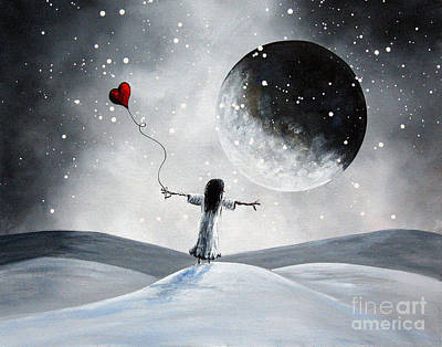 Big Moon Painting - One Small Dream By Shawna Erback by Shawna Erback
