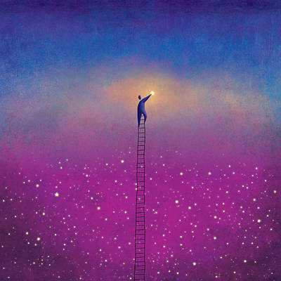Painting - One Star by Roberto Weigand