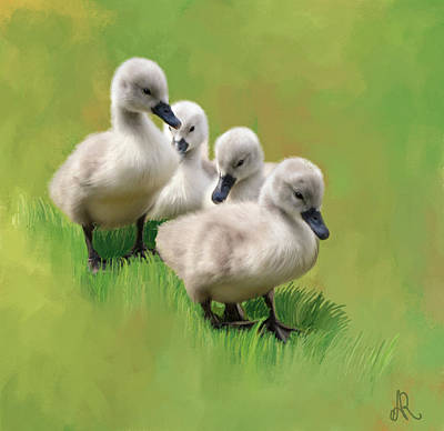 Goslings Painting - One Step At A Time by Alice Langlois