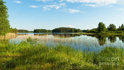 Photograph - One Summer Day At The Lakeside by Ismo Raisanen