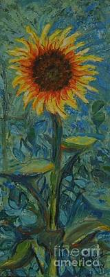 Painting - One Sunflower - Sold by Judith Espinoza