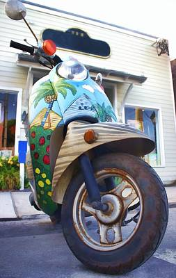 Two Wheeler Digital Art - One Sweet Ride by Chrystyne Novack