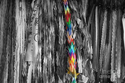 Art Print featuring the photograph One Thousand Paper Cranes by Cassandra Buckley