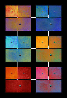 Digital Art - One To Eighteen - Colorful Rust - All Colors by Menega Sabidussi
