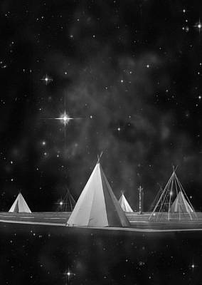 Tipi Photograph - One Tribe Bw by Laura Fasulo
