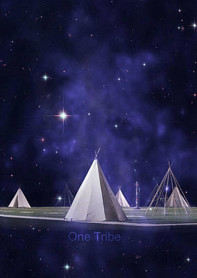Tipi Photograph - One Tribe by Laura Fasulo