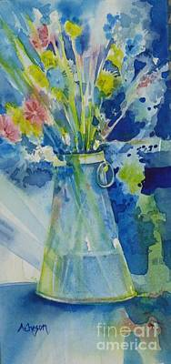 Painting - One Vase For More Flowers by Donna Acheson-Juillet