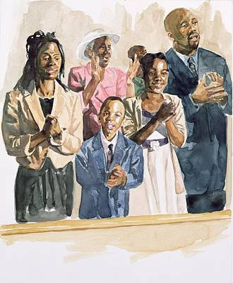 Black Gospel Painting - One Voice by Colin Bootman