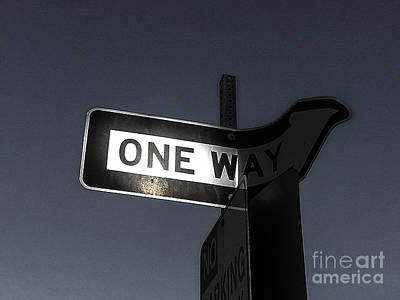 Photograph - One Way by Fei Alexander