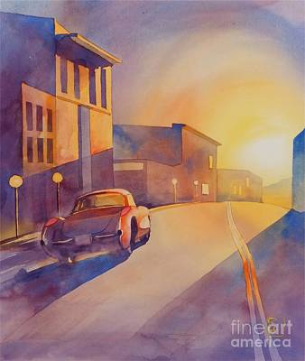 Automobilia Painting - One Way by Robert Hooper