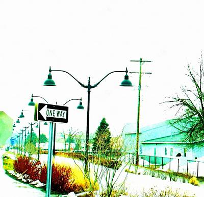 One Way Ticket Railroad Depot Stop Art Print by Rosemarie E Seppala
