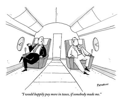 September 19th Drawing - One Wealthy Man Talks To Another While Traveling by Jason Patterson