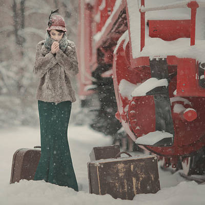 One Winter Story Art Print by Anka Zhuravleva