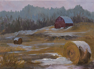 One Wintry Day Print by Bev Finger