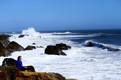 Art Print featuring the photograph One With The Ocean by Theresa Ramos-DuVon