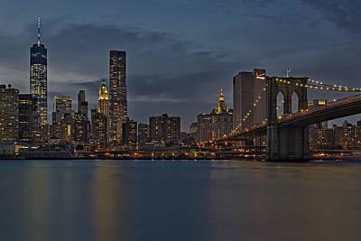 One World Trade Center And The Brooklyn Bridge Art Print