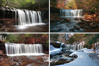 Photograph - Oneida Falls In Every Season by Gene Walls