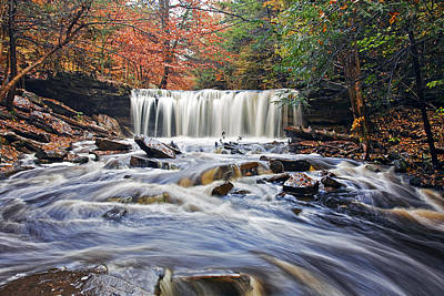 Relax Photograph - Oneida Waterfall by Marcia Colelli