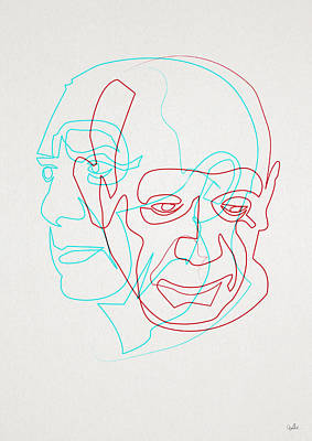 Digital Art - oneline Picasso by Quibe