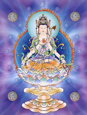 Oneness Avalokitesvara  Print by Lanjee Chee