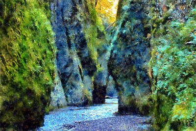 Digital Art - Oneonta Gorge by Kaylee Mason