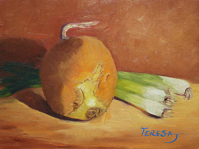 Painting - Onion And Onions by Teresa Lynn Johnson